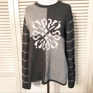 Christopher & Banks | Gray Color Block Sweater